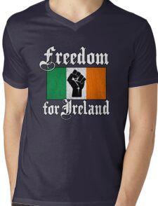 Freedom for Ireland (Vintage Distressed) Mens V-Neck T-Shirt