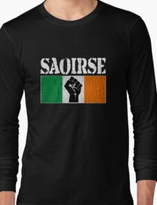 SAOIRSE - Freedom for Ireland (Vintage Distressed) Long Sleeve T-Shirt