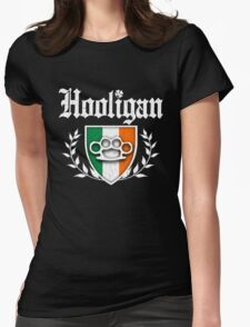 Irish Hooligan Knuckle Crest (Vintage Distressed) Womens Fitted T-Shirt
