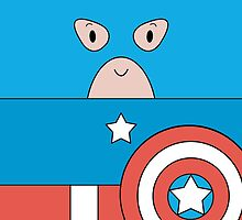 Marvel Captain America (Cute Minimalistic Version) by charsheee