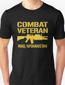 Combat Veteran Iraq and Afghanistan (Vintage Distressed) Unisex T-Shirt