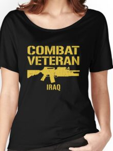 Combat Veteran IRAQ (Vintage Distressed) Women's Relaxed Fit T-Shirt