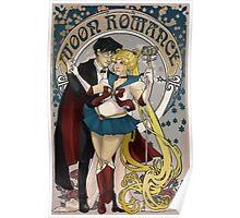 Moon Romance Art Nerdveau Poster