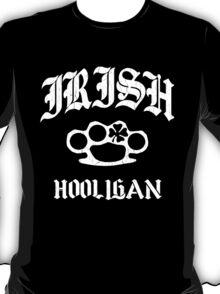 Irish Hooligan Brass Knuckles (Distressed Vintage) T-Shirt