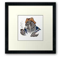 Smoking Walrus Framed Print