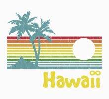 Vintage 80s Hawaii (Distressed Design) Kids Clothes