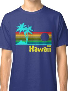 Vintage 80s Hawaii (Distressed Design) Classic T-Shirt