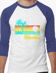 Vintage 80s Hawaii (Distressed Design) Men's Baseball ¾ T-Shirt