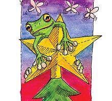 kmay xmas frog star by Katherine May