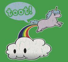 Toot! Cute Unicorn Fart (Vintage Distressed Design) One Piece - Short Sleeve
