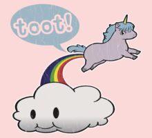 Toot! Cute Unicorn Fart (Vintage Distressed Design) Kids Clothes