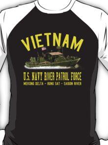Vietnam US Navy River Patrol PBR (Vintage Distressed) T-Shirt