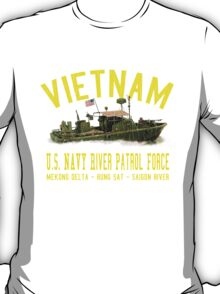 Vietnam US Navy River Patrol PBR (Vintage Distressed) T-Shirt