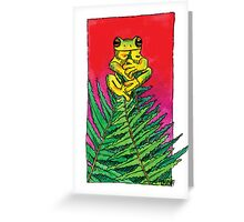 kmay xmas frog fern tree Greeting Card