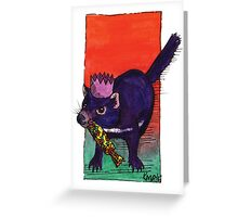 kmay xmas tassie devil cracker Greeting Card