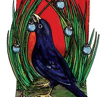 kmay xmas bower bird by Katherine May