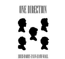 One Direction Silhouettes by ChloeJade