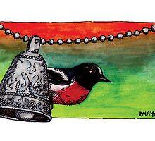 kmay xmas red robin by Katherine May