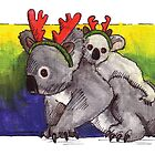 kmay xmas koala deer by Katherine May
