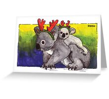 kmay xmas koala deer Greeting Card