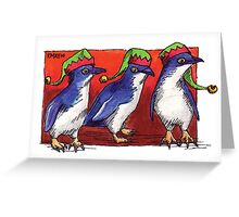 kmay xmas fairy penguin elves Greeting Card