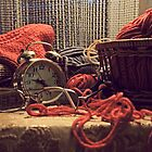 Evening Still Life with knitting by VallaV