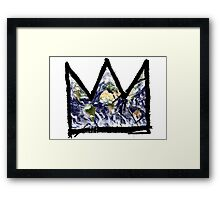 """Basquiat, """"King of The world"""" Framed Print"""