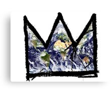 """Basquiat, """"King of The world"""" Canvas Print"""