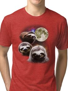 Funny Space Sloths  Tri-blend T-Shirt