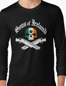 Sons of Ireland (Vintage Distressed Design) Long Sleeve T-Shirt