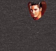 Elvis Presley Heart Black. Unisex T-Shirt