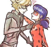 Miraculous Ladybug and Chat Noir by Shani Bergman