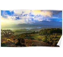 Sunset Valley: Mountains on the Mediterranean, Turkey Poster