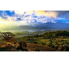 Sunset Valley: Mountains on the Mediterranean, Turkey Photographic Print
