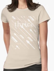 Upon Us (White Variant) Womens Fitted T-Shirt