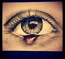 Bleeding eye by hannahellington