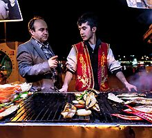 Generations: Fish Vendors in Istanbul, Turkey by thewaxmuseum
