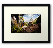 Smokin' Rasta: Hiking up the Pitons, St. Lucia Framed Print