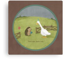 Ducks only Canvas Print