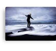 Surfer's Paradise: Glaciers at Joksularon, Iceland Canvas Print