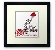 Fire Monkey Framed Print