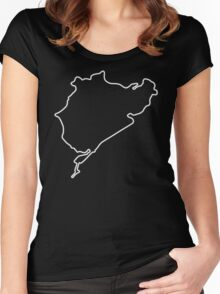 Nürburgring - Combined Circuit [outline] Women's Fitted Scoop T-Shirt