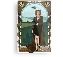 Dana Scully Art Nerdveau Metal Print
