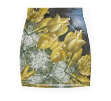 Yellow tulips Mini Skirt