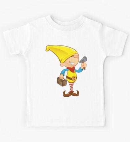 Elf Character - Hammer & Toolbox Kids Tee