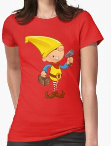 Elf Character - Hammer & Toolbox Womens Fitted T-Shirt