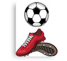 Boots and ball Canvas Print