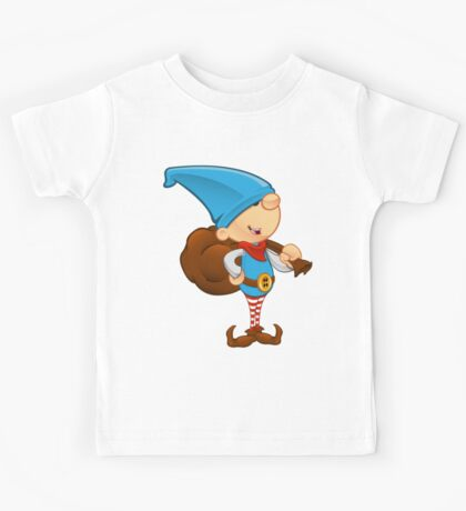 Elf Character - Holding A Sack Kids Tee