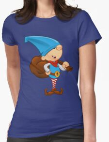 Elf Character - Holding A Sack Womens Fitted T-Shirt