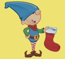 Elf Character - Holding A Stocking Baby Tee